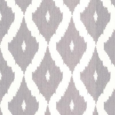 Graham Brown Kellys Ikat Grey White Wallpaper