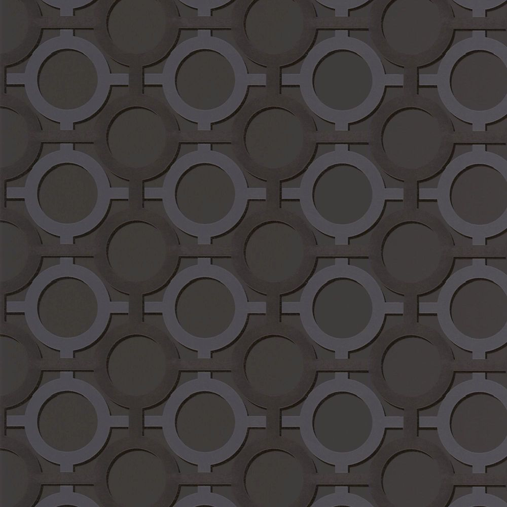 In h black gold and silver contemporary circles for Discount wallpaper canada