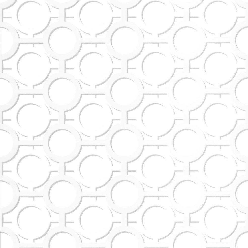 Graham & Brown Enigma White/Silver Wallpaper