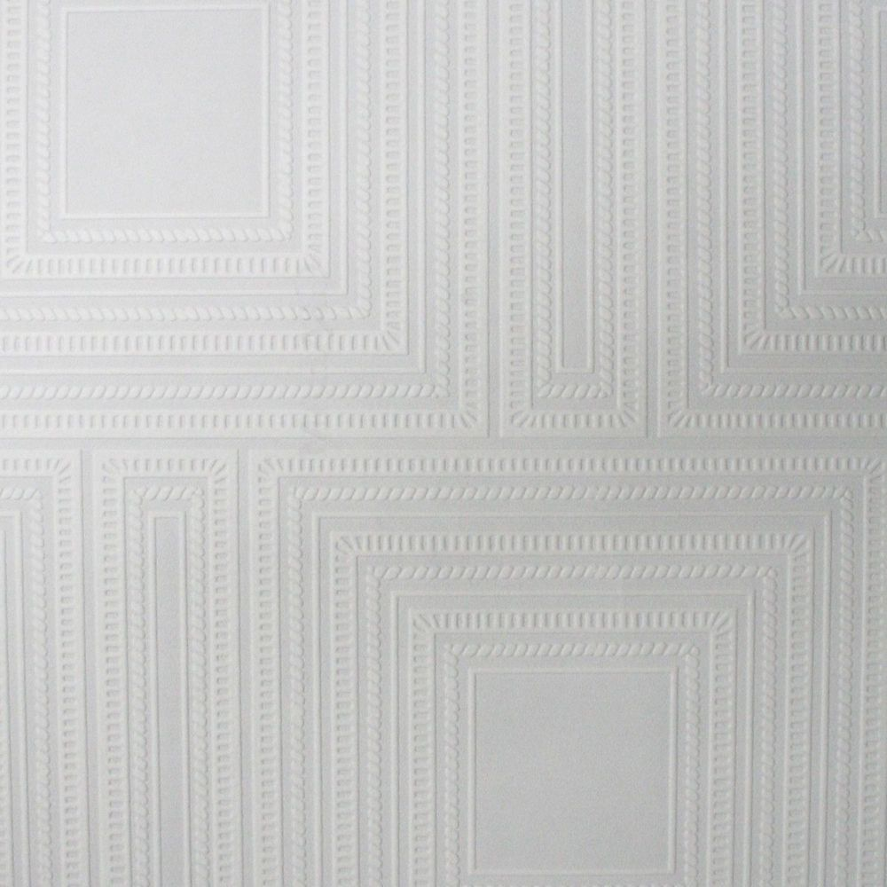 Graham brown carreaux papier peint peinturable blanc home depot canada - Papier peint carreaux ...
