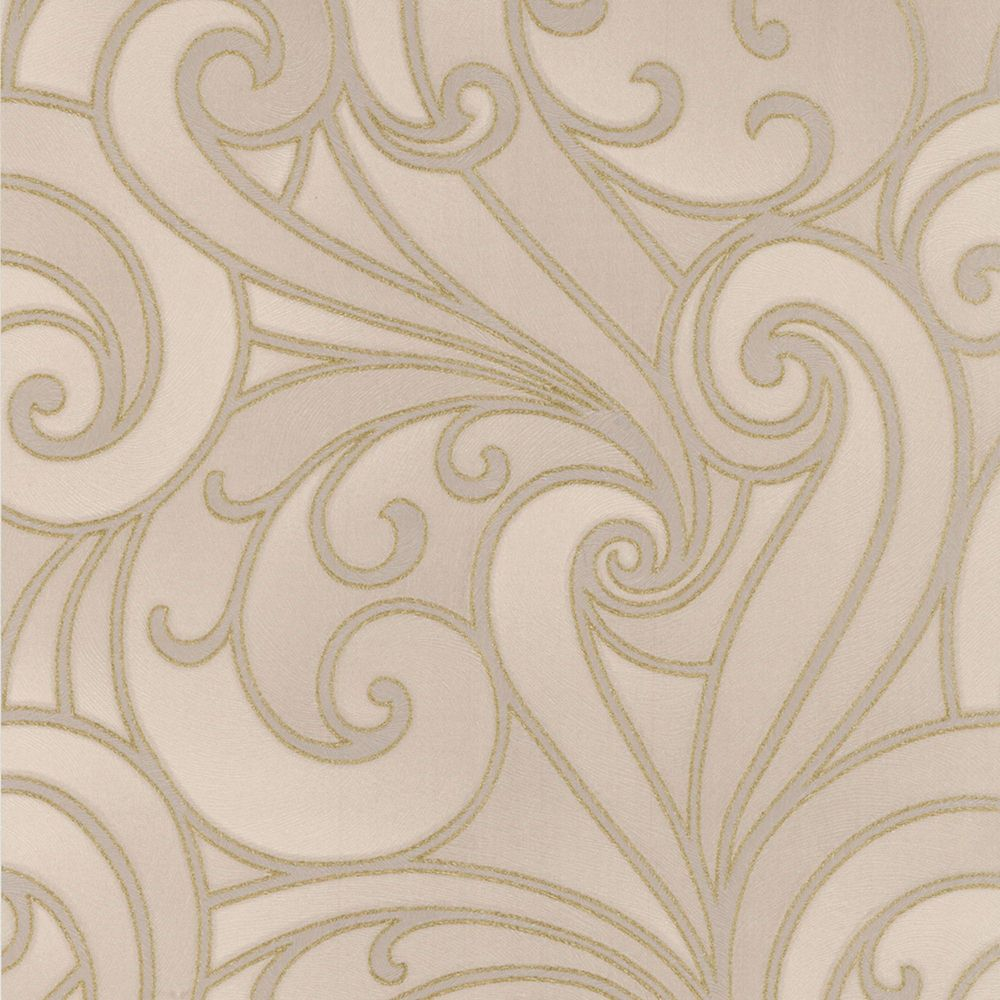 Saville Greige/Gold Wallpaper