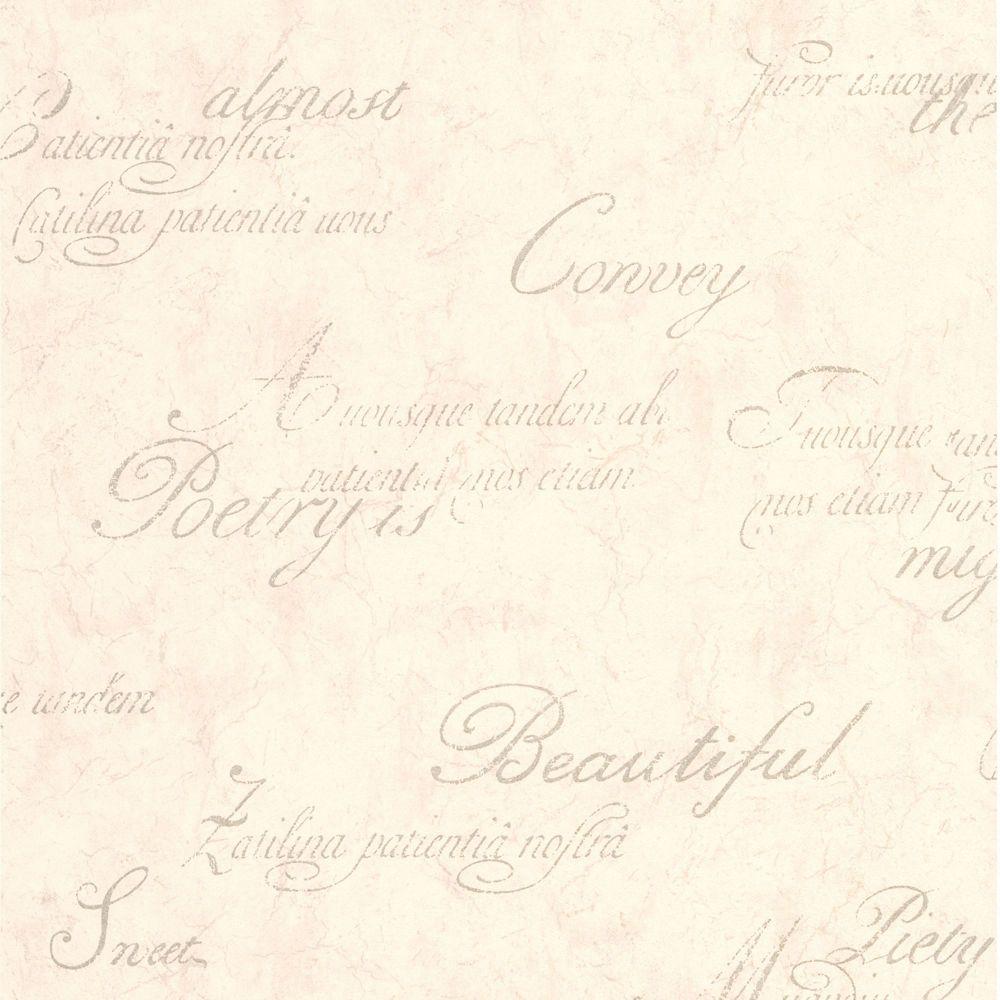 Concrete Script Cream/Beige Wallpaper