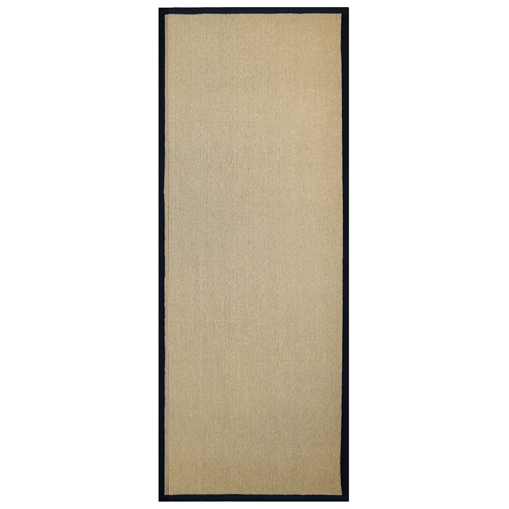 Black Sisal Area Rug 29 Inches X 44 Inches