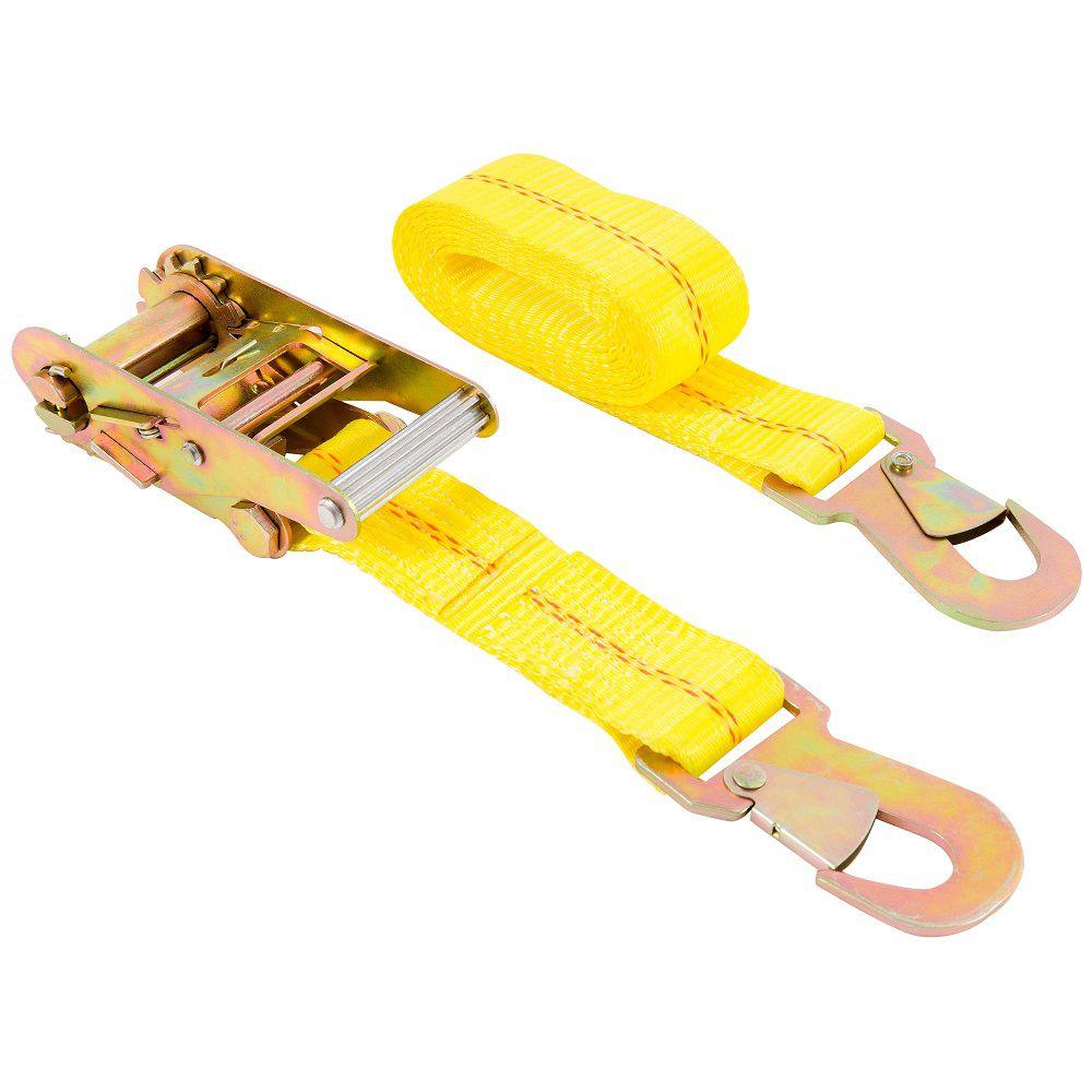 KEEPER Auto Tie-Down, 8 Feet.  Ratchet, Snap Hks