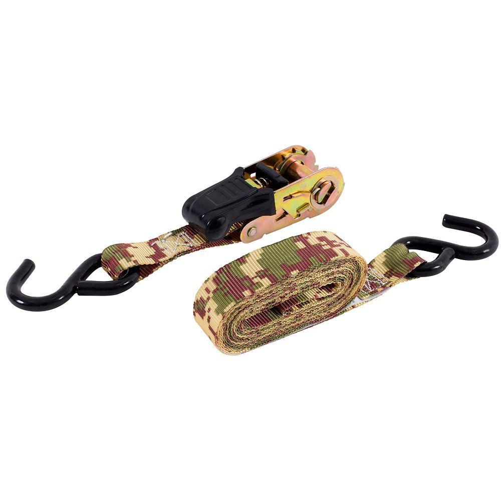 KEEPER Tie-down, 12 FeetRatchet, Desert Camo