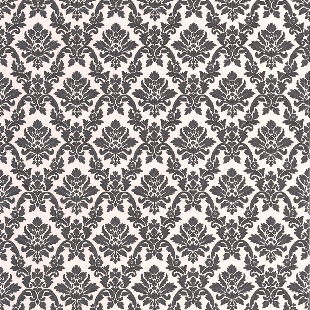 Damask black white wallpaper photo of product