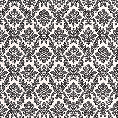 Graham Brown Damask Black White Wallpaper