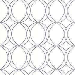 Graham & Brown Cercles Papier Peint Blanc/Argent