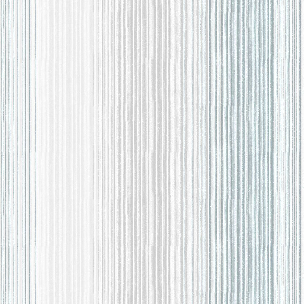 Chambray Stripe Blue/Cream Wallpaper