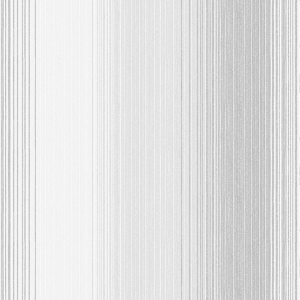 Chambray Stripe Grey/Cream Wallpaper