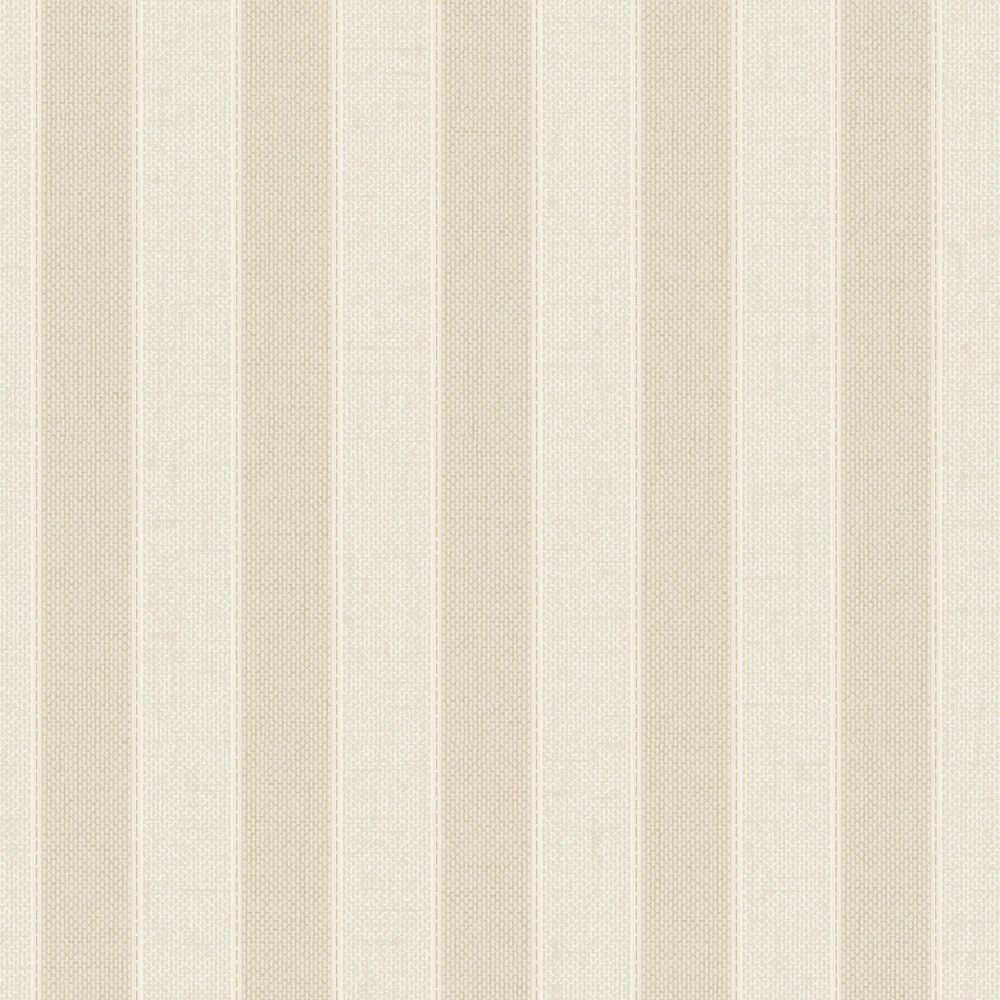 Ticking Stripe Cream/Beige/Almond Wallpaper 20-520 Canada Discount