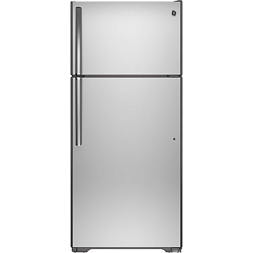 28-inch W 15.5 cu. ft. Top Freezer Refrigerator in Stainless Steel - ENERGY STAR®