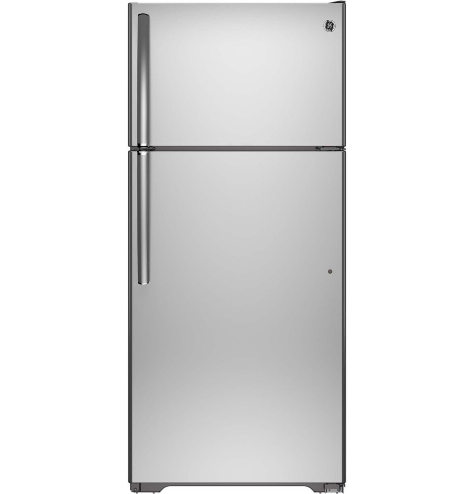 GE 28-inch W 15.5 cu. ft. Top Freezer Refrigerator in Stainless Steel - ENERGY STAR®