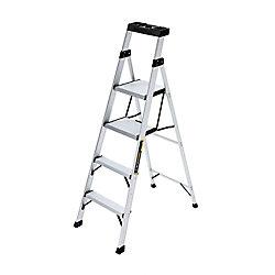 Gorilla Ladders 5.5 ft. Aluminum CrossOver Step Ladder