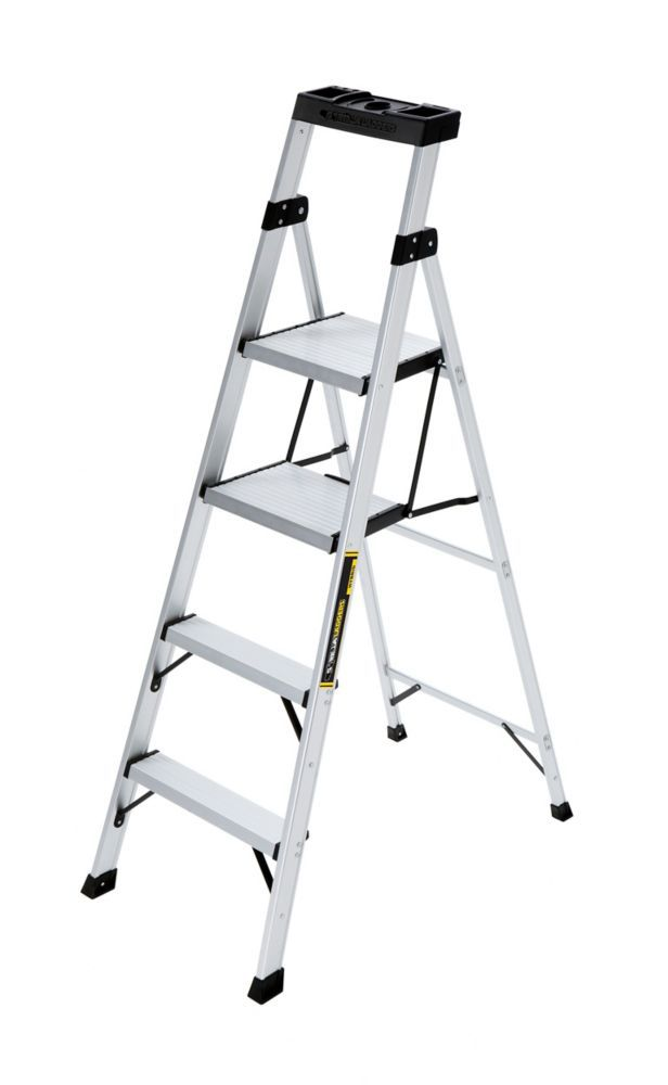 Gorilla Ladders 5.5 ft. Aluminum CrossOver Step Ladder