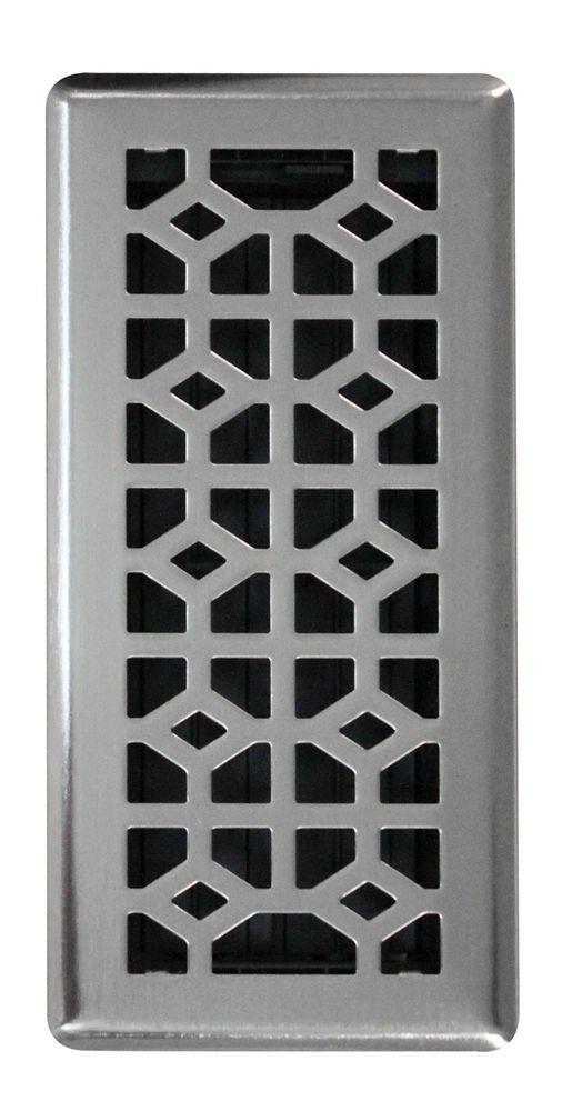 10,1 x 25,4 cm Grille A Registre De Plancher