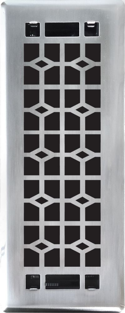 7,6 x 25,4 cm Grille A Registre De Plancher