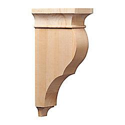 Ornamental Mouldings Corbeau classique en érable - 6 1/2 x 3 x 12 po