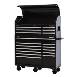 HUSKY 52-inch 18-Drawer Tool Chest and Rolling Tool Cabinet Set in Black
