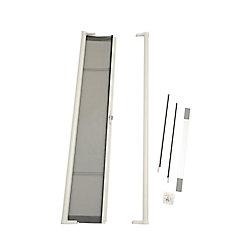 ODL Brisa 36-inch x 81-inch White Vanishing Retractable Screen Door