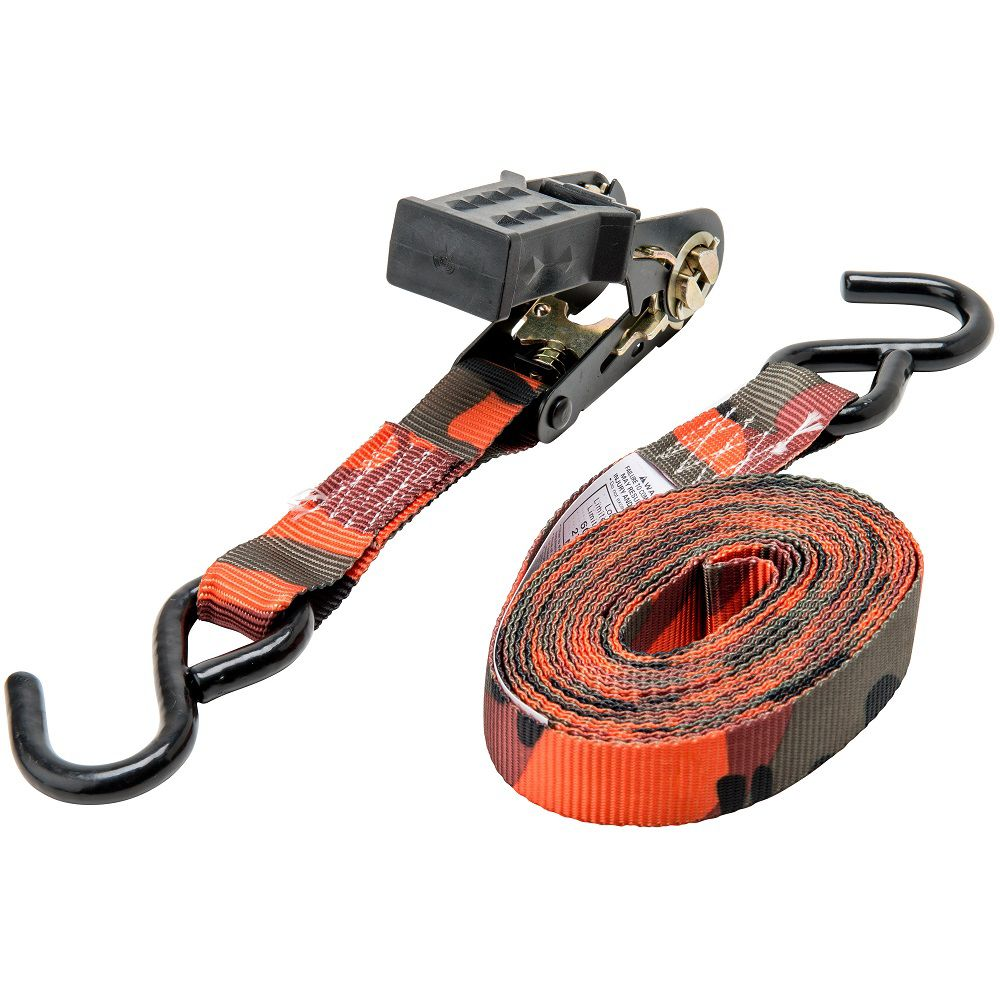 16 Feet.  x 1 Inch.  Ratchet Tie-Down, Blaze Cam