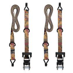KEEPER 16 ft. Ratchet Tie Down, Camo, J Hook
