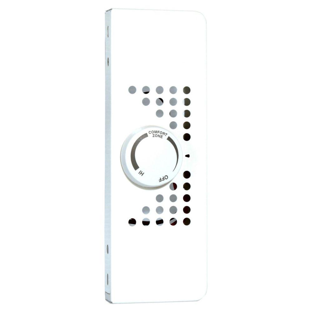 Trousse de thermostat pour plinthe électrique de chauffage hydronique SoftHEAT, blanc