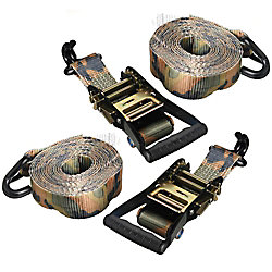 KEEPER Tie-Down ProGrade16 ft. x1-1/4 inch. (2-Pack),Camo