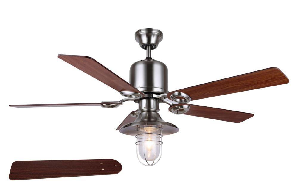 """SAWYER 48"""" ventilateur de plafond de nickel brossé"""