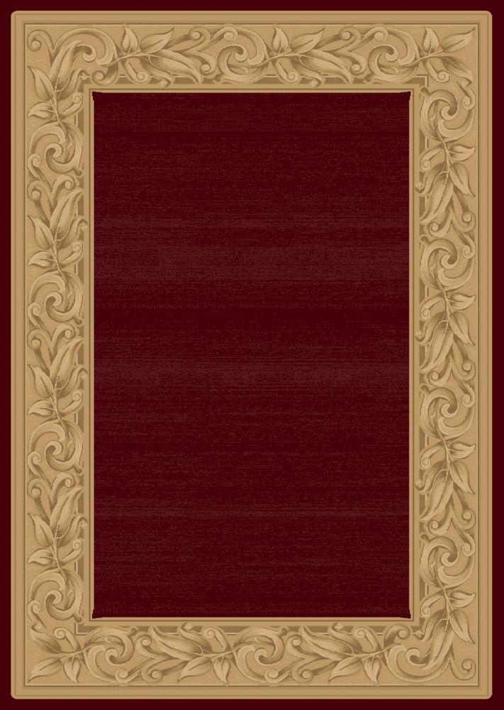 Tapis Elegant Embrace Rouge 5 Pi. 3 Po. x 7 Pi. 5 Po.