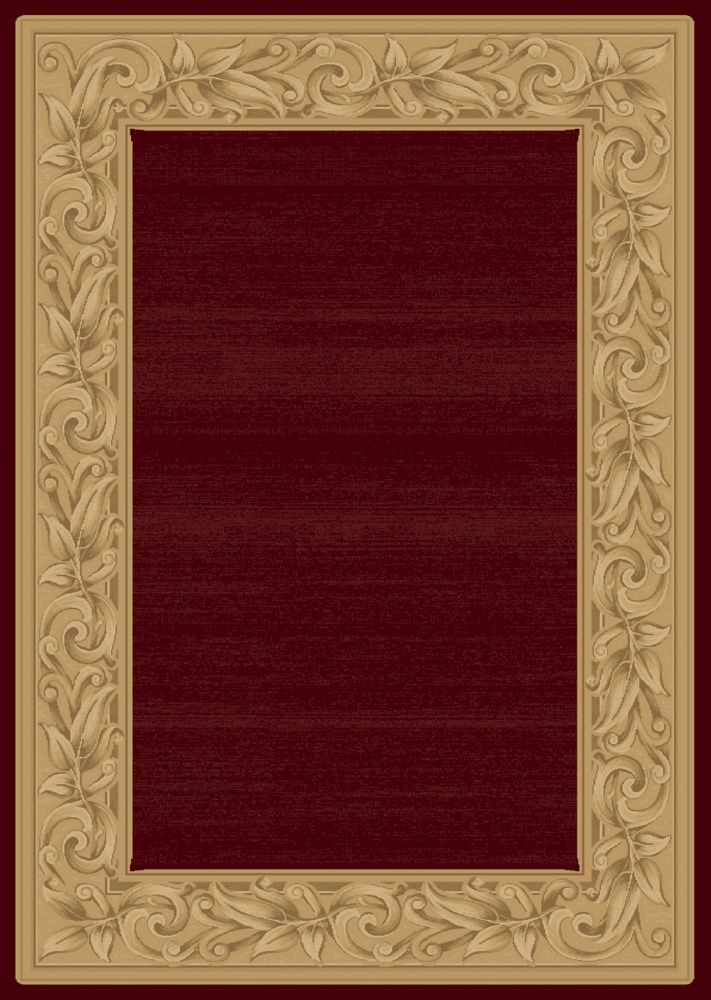 Balta Us Elegant Embrace Red 5 ft. 3-inch x 7 ft. 5-inch Indoor Transitional Rectangular Area Rug
