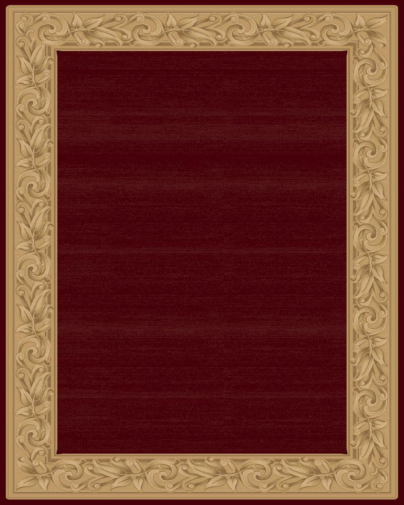 Tapis Elegant Embrace Rouge 9 Pieds 2 pouces x 12 pieds 5 pouces