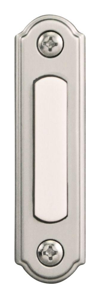 Wired Satin Nickel Push Button