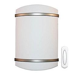 Heath Zenith Batterie sans fil exploités le carillon de porte - Garniture de nickel satiné