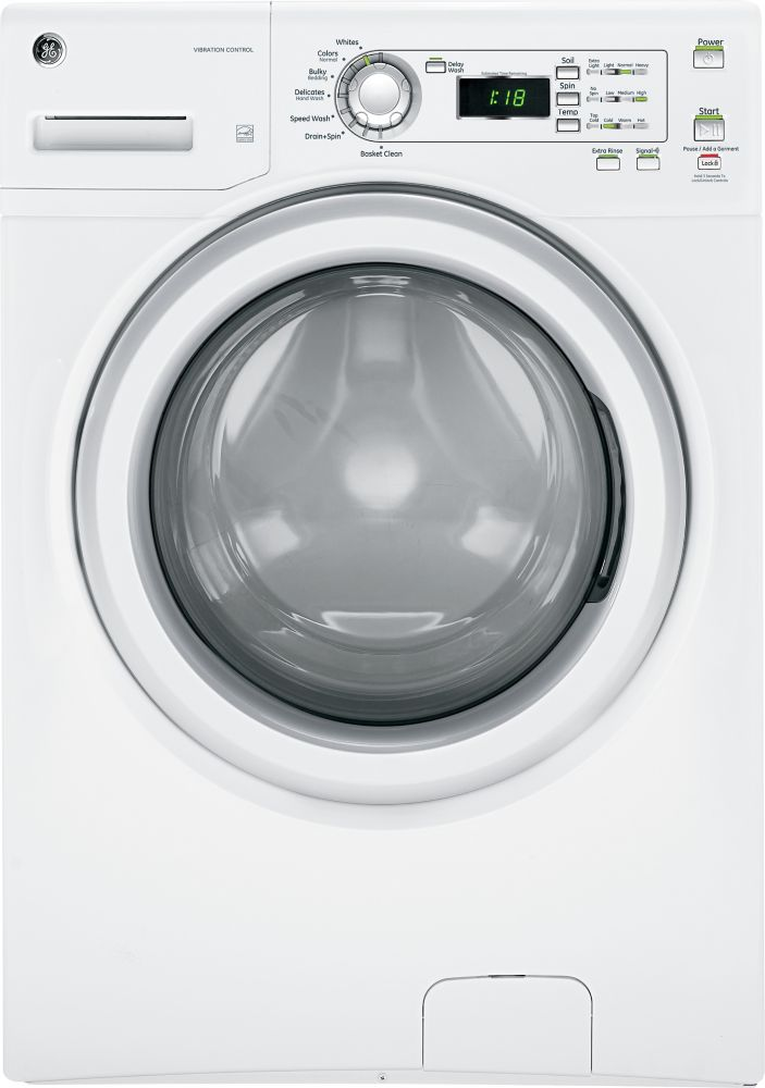 4.2 cu. ft. Front Load Washer with Stainless Steel Drum in White