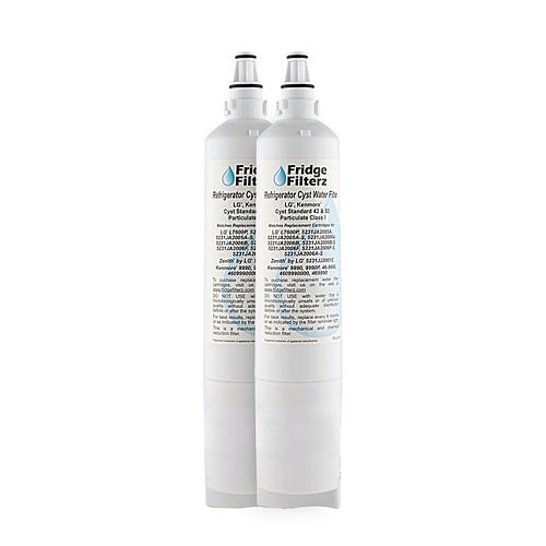 Fridge Filterz Replacement Refrigerator Water & Ice Filter for LG LT600P, 5231JA2006B, 5231JA2006A (2-Pack)