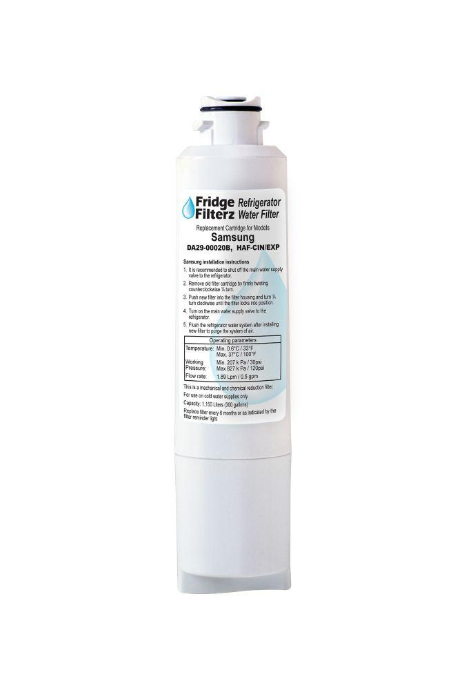 Filtre à eau Fridge Filterz FFSS-375-1, en paquet de 1, pour réfrigérateurs Samsung