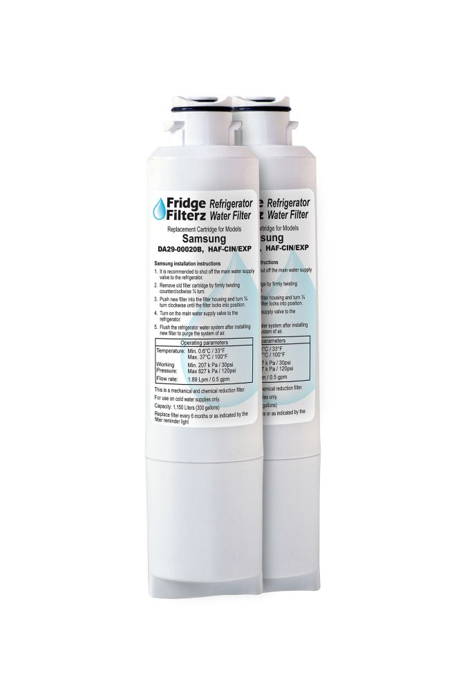 Fridge Filterz HAF-CIN/EXP Replacement Water & Ice Filter for Samsung Refrigerator (2-Pack)