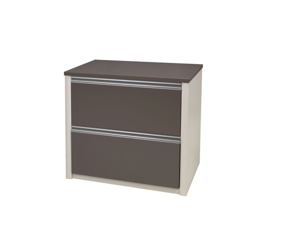 Connation 30Inch lateral file (ready-to-assemble) in Slate & Sandstone