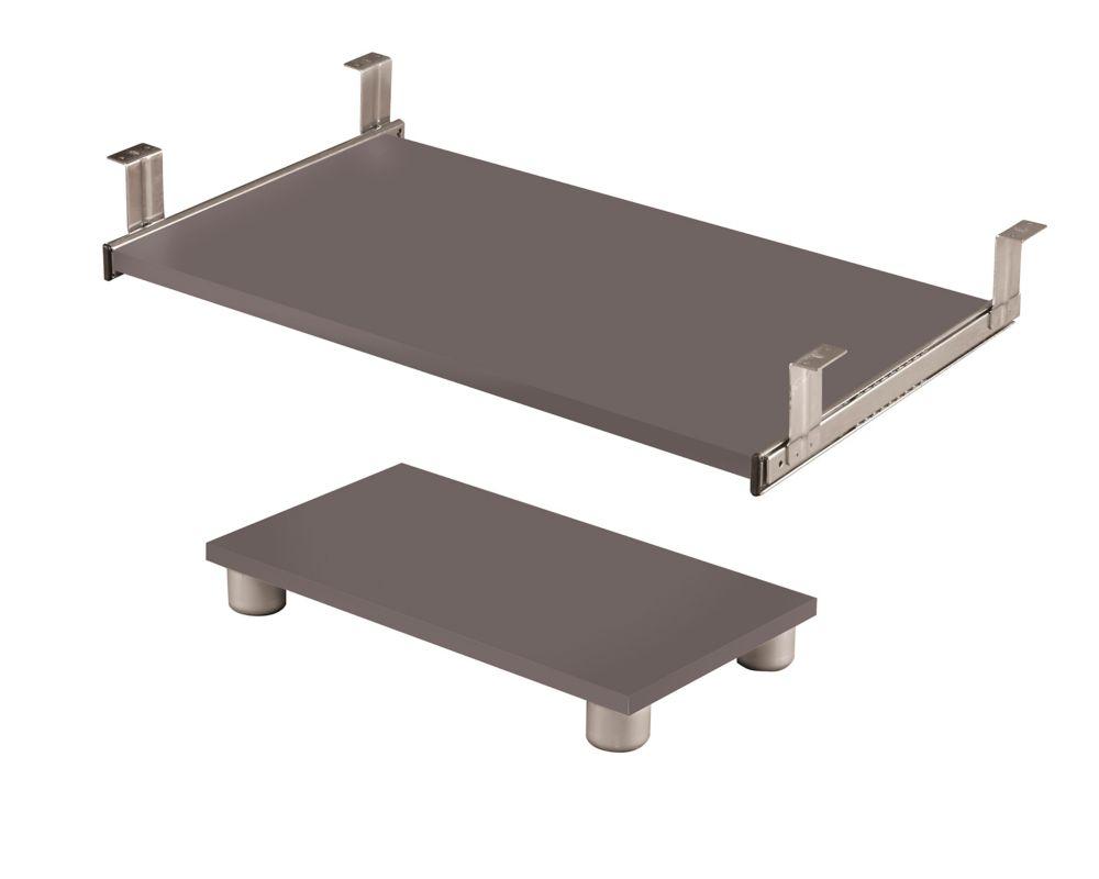Connation keyboard shelf and CPU platform in Slate