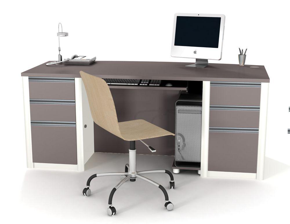 Connation executive desk kit in Slate & Sandstone