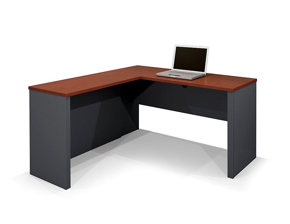 Prestige + 59.4-inch x 30.4-inch x 62.7-inch L-Shaped Computer Desk in Red