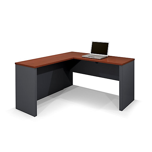 Prestige + 59.4-inch x 30.4-inch x 62.7-inch L-Shaped Computer Desk in Red