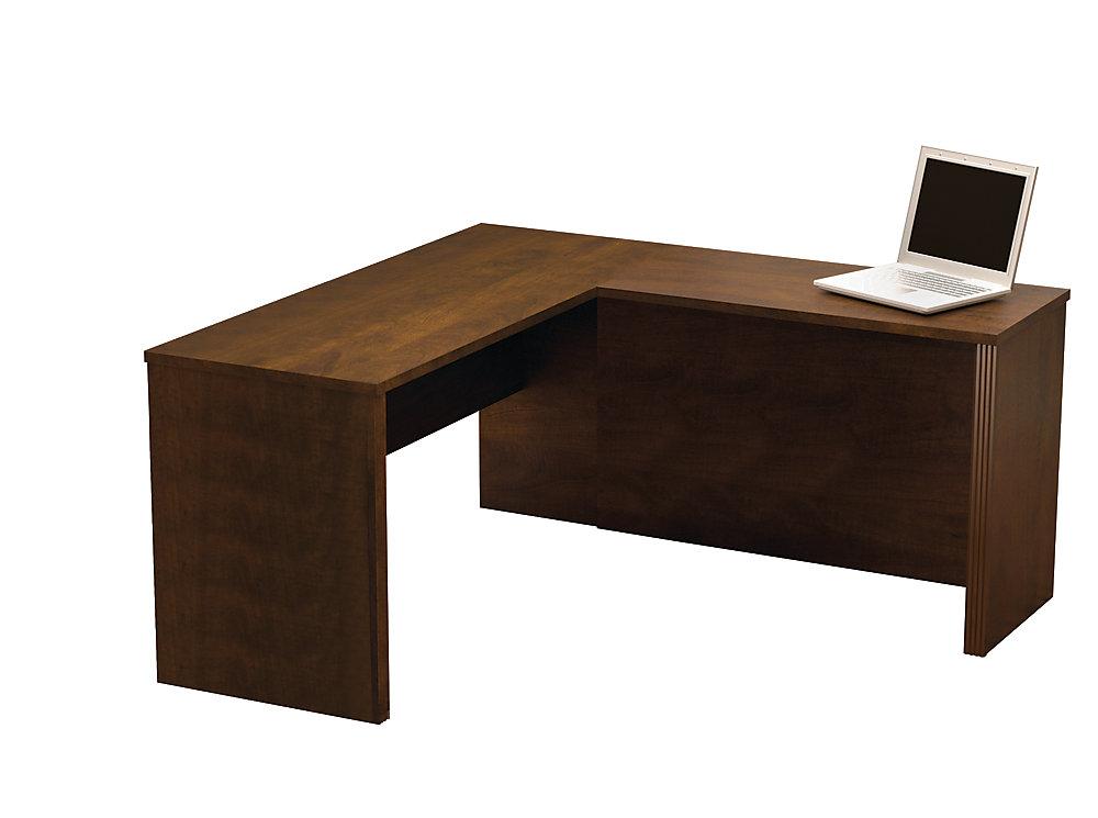 Prestige + 59 4-inch x 30 4-inch x 62 7-inch L-Shaped Computer Desk in  Espresso