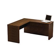 Prestige + 59.4-inch x 30.4-inch x 62.7-inch L-Shaped Computer Desk in Espresso