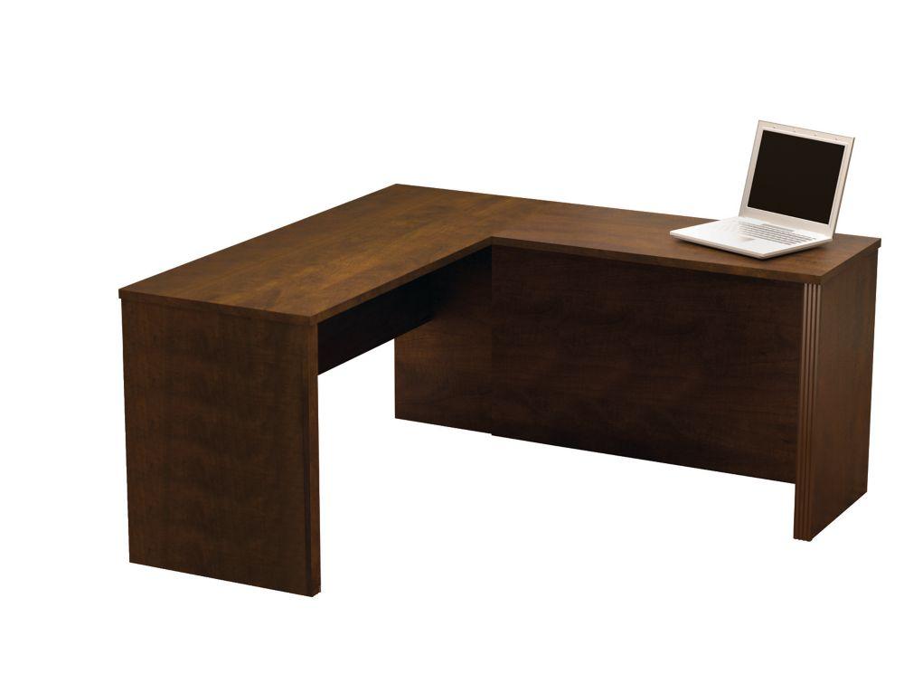 Bestar Prestige + 59.4-inch x 30.4-inch x 62.7-inch L-Shaped Computer Desk in Espresso