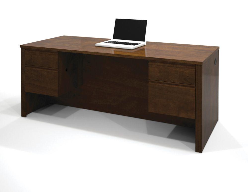 Bestar Prestige + 71.1-inch x 30.4-inch x 29.75-inch Standard Computer Desk in Brown