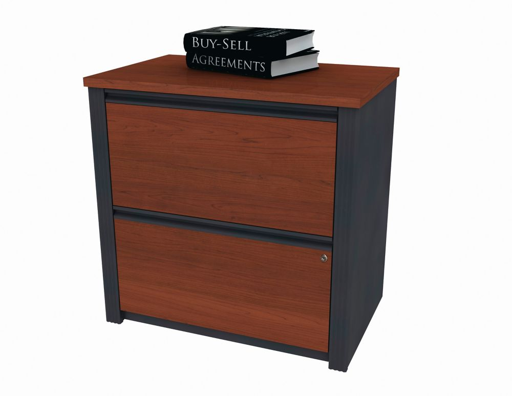 30.8-inch x 30.4-inch x 19.6-inch 2-Drawer Manufactured Wood Filing Cabinet in Brown
