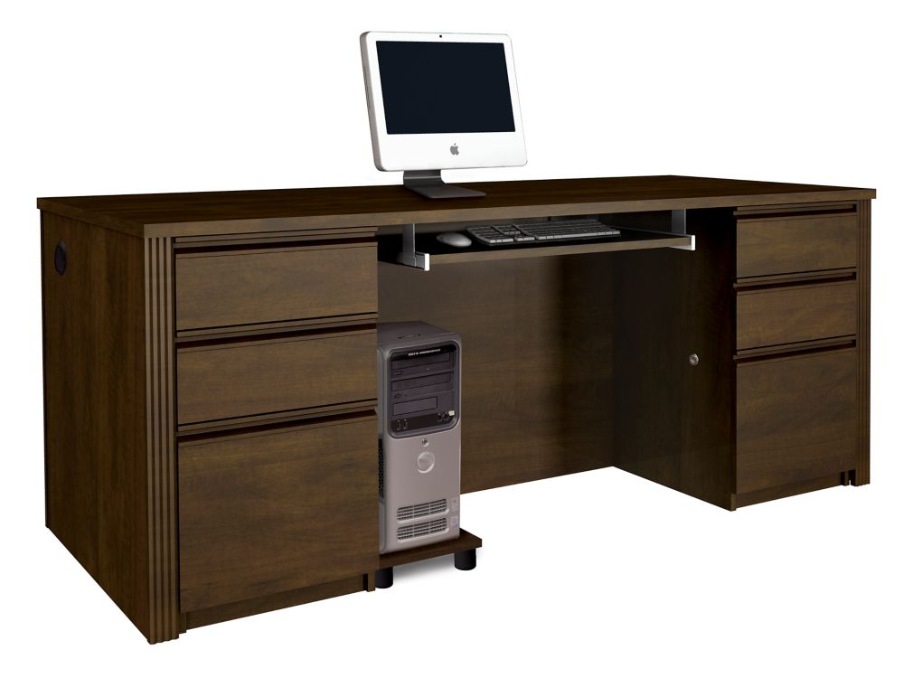 Prestige + 71.1-inch x 30.4-inch x 29.8-inch Standard Computer Desk in Espresso