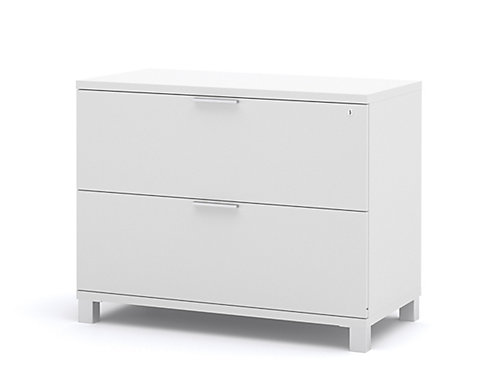 Pro linea 35 6 inch x 28 4 inch x 19 5 inch 2 drawer manufactured wood filing cabinet in white